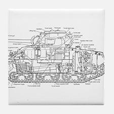 M4 SHERMAN CUTAWAY Tile Coaster