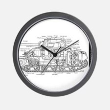 M4 SHERMAN CUTAWAY Wall Clock