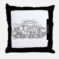 M4 SHERMAN CUTAWAY Throw Pillow