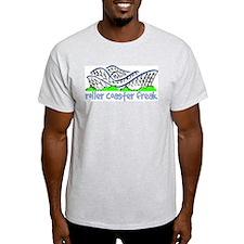 """Roller Coaster Freak"" Ash Grey T-Shirt"
