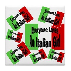 Italian Girl Tile Coaster