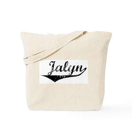 Jalyn Vintage (Black) Tote Bag