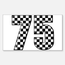 acing Number 75 Rectangle Decal