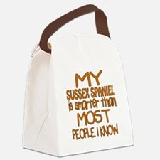 My Sussex Spaniel is smarter Canvas Lunch Bag