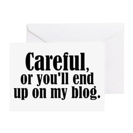 Careful... blog - Greeting Cards (Pk of 10)
