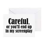 Careful... screenplay - Greeting Cards (Pk of 10)