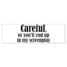Careful... screenplay - Bumper Car Sticker