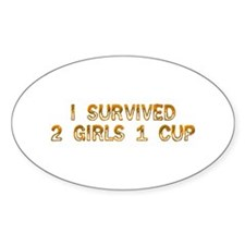 2 Girls 1 Cup Oval Decal