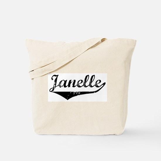 Janelle Vintage (Black) Tote Bag