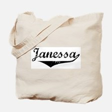 Janessa Vintage (Black) Tote Bag