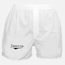 Janessa Vintage (Black) Boxer Shorts
