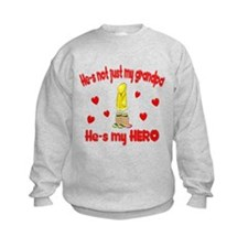 Not just my grandpa (hearts) Sweatshirt