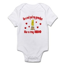 Not just my grandpa (hearts) Infant Bodysuit
