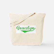 Gracelyn Vintage (Green) Tote Bag