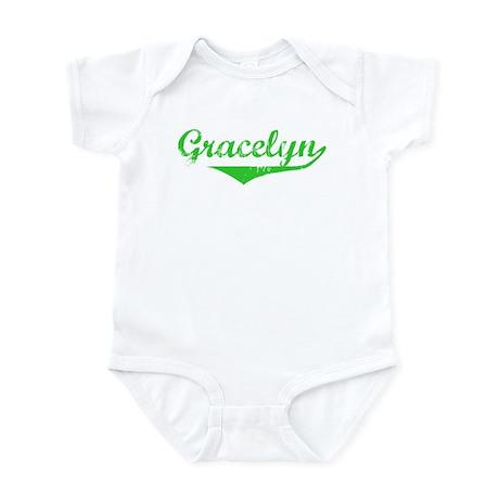 Gracelyn Vintage (Green) Infant Bodysuit