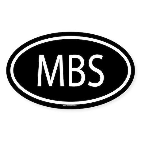 MBS Oval Sticker