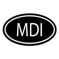 MDI Oval Decal