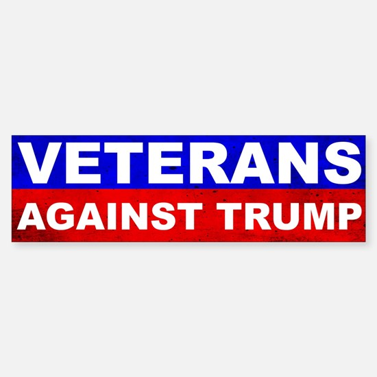 Veterans Against Trump Bumper Bumper Bumper Sticker