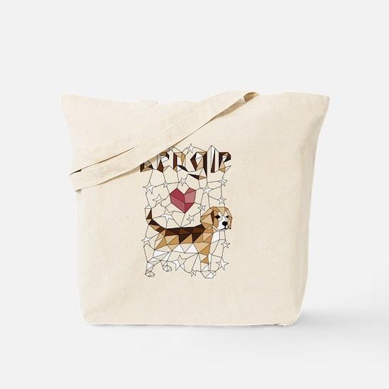 Cute Beagle art Tote Bag
