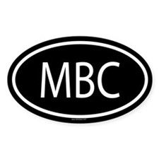 MBC Oval Decal