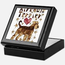 Geometric Airedale Terrier Keepsake Box