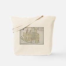 Vintage Map of Lisbon Portugal (1786) Tote Bag