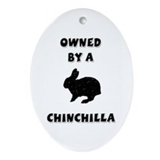 Owned by a Chinchilla Keepsake (Oval)