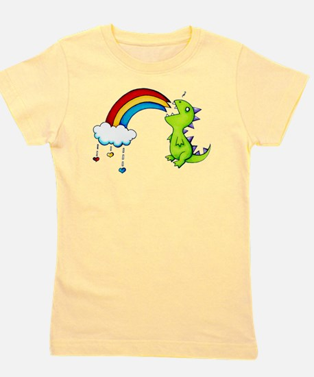 Unique Dinosaur heart Girl's Tee
