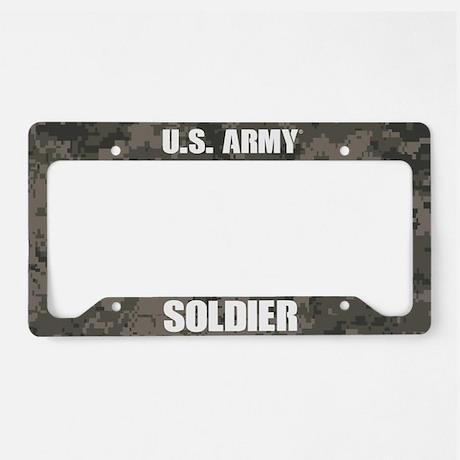 U.S . Army Soldier Camo License Plate Frame