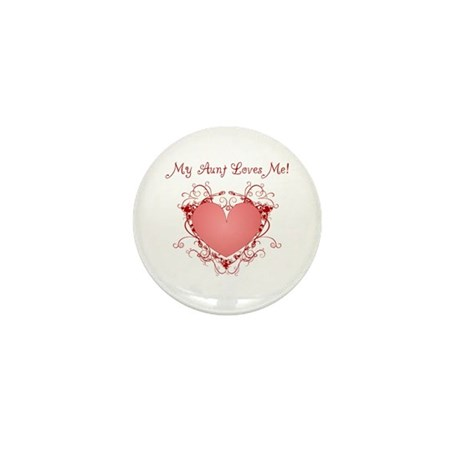 My Aunt Loves Me Heart Mini Button (10 pack)