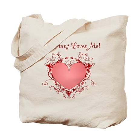 My Aunt Loves Me Heart Tote Bag