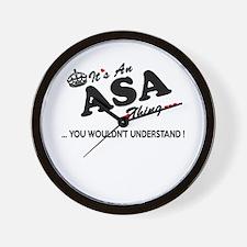 Funny Asa Wall Clock