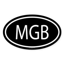 MGB Oval Decal