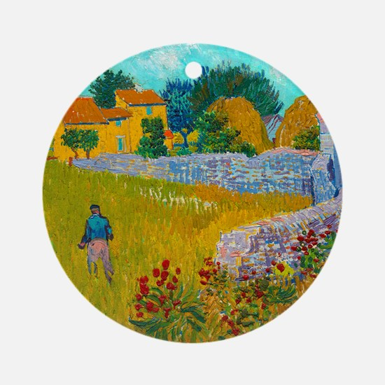 Farmhouse in Provence by Vincent van Gogh Round Or