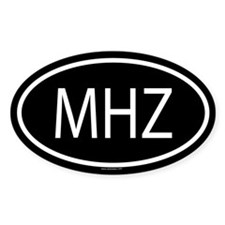 MHZ Oval Decal