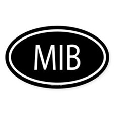 MIB Oval Decal
