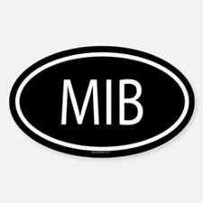 MIB Oval Decal