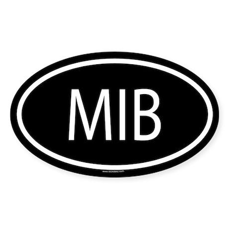 MIB Oval Sticker