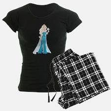Snow Princess In Blue Dress Pajamas
