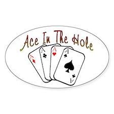 Ace Hole Oval Decal