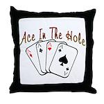 Ace Hole Throw Pillow