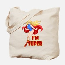Woman Super Hero Flying With Cape Tote Bag