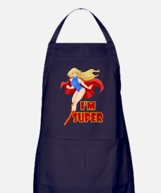 Woman Super Hero Flying With Cape Apron (dark)
