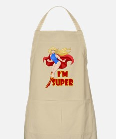Woman Super Hero Flying With Cape Apron