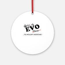 Cute Evo Round Ornament