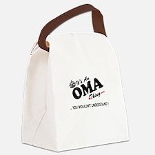 Unique Oma Canvas Lunch Bag