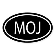 MOJ Oval Decal