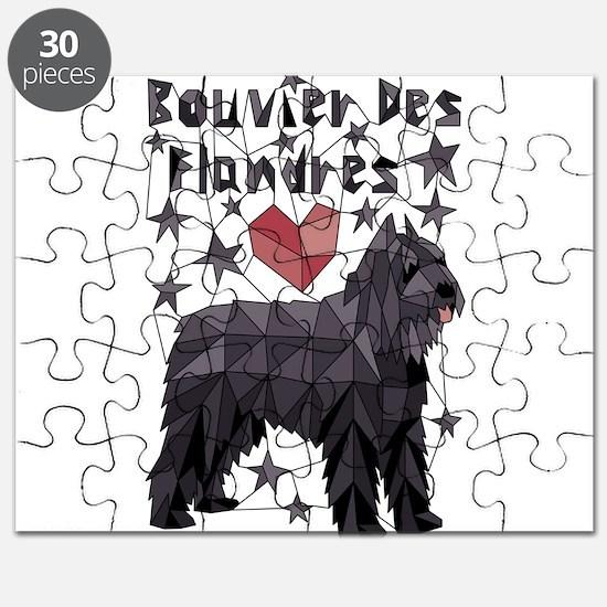 Geometric Bouvier Des Flandres Puzzle
