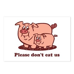 Please Don't Eat Us Postcards (Package of 8)