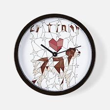 Geometric Brittney Wall Clock